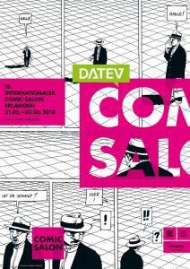 Das Plakat zum Comic-Salon zeigt ein Motiv von Marc-Antoine Mathieu
