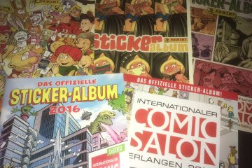 Comic-Salon Alben für Sammelsticker