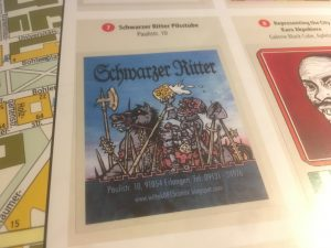 Sammelsticker Schwarzer Ritter