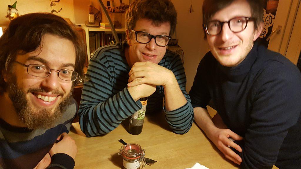 Die Polle Macher Dominik Müller, Jakob Hoffmann und Ferdinand Lutz.