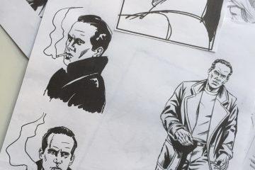 """Skizzen und Entwürfe zu """"Tödliches Spiel"""""""