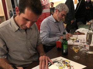 Achdé und Jul beim Signieren © Egmont Publishing