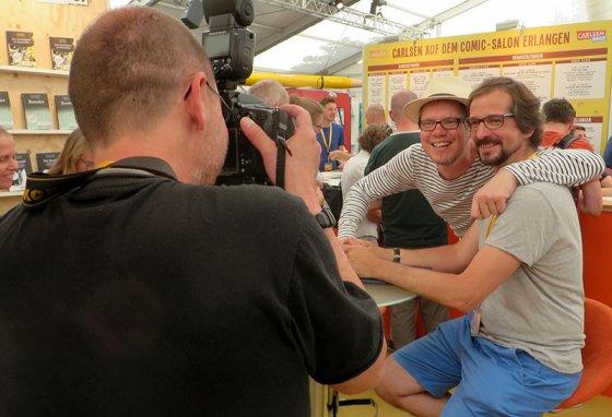 Flix und ich beim Comic-Salon in Erlangen.