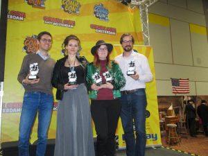Die vier anwesenden Preisträger