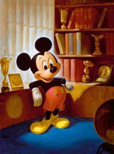 Ein Porträt von John Hench, 1953 anläßlich des 25. Geburtstags der Maus. © Disney Enterprises, Inc.