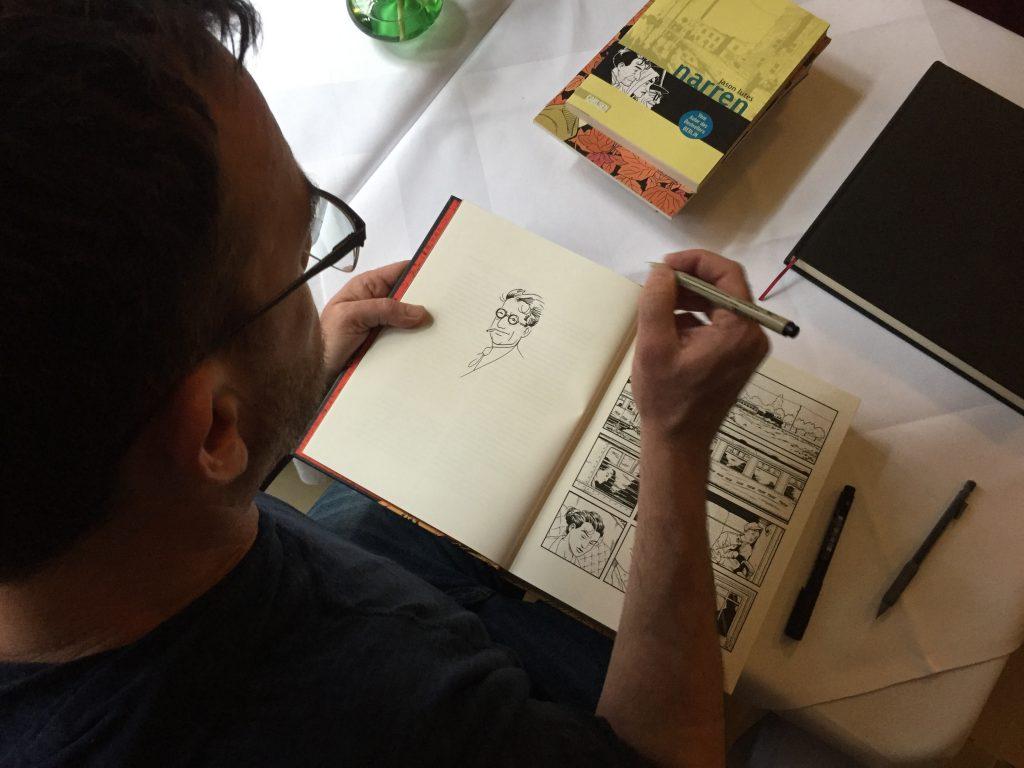 Jason Lutes beim Signieren. ©Alex Jakubowski