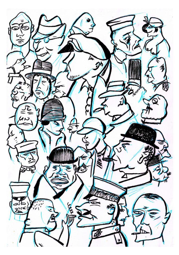 Charakterskizzen von Andreas Eikenroth